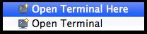 Open Terminal Here / Open Terminal